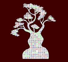 Tree with Chinese Characters by xorbah