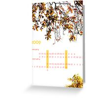 calendar Greeting Card