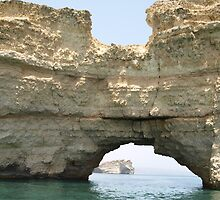 The Letter 'H', Offshore Rock formation Oman by DeborahDinah