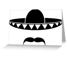 Sombrero with a beard from Mexico Greeting Card