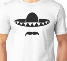 Sombrero with a beard from Mexico Unisex T-Shirt
