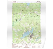 Maine USGS Historical Map Dexter 105076 1984 24000 Poster
