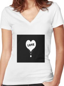 Iphone Love Women's Fitted V-Neck T-Shirt