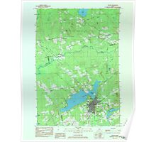 Maine USGS Historical Map Dexter 806641 1984 24000 Poster