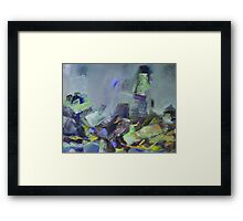 Tower blue birds Framed Print
