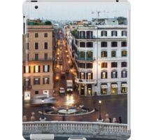 Via Condotti Waking Up - Impressions Of Rome iPad Case/Skin