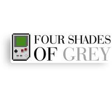 Game Boy - Four Shades of Grey Canvas Print