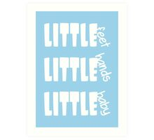 Little Feet - Baby Boy Blue. Art Print