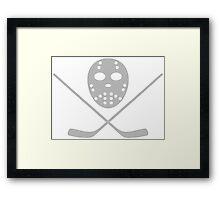 Hockey mask and bat Framed Print