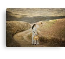 The girl of cold fell I Canvas Print