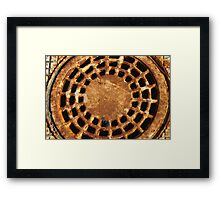 Rusty and round Framed Print