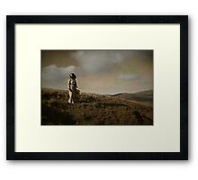 The girl of cold fell II Framed Print