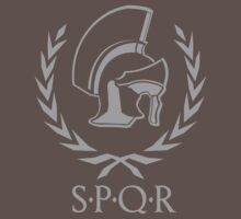 Laurel wreath and helmet SPQR Rome by muli84