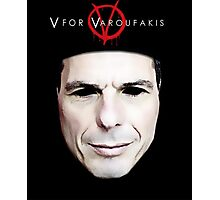 V for Varoufakis Photographic Print