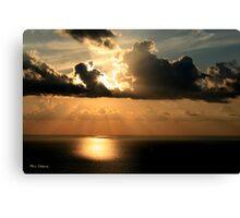 Golden Spirit Over Haifa Bay Canvas Print