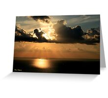 Golden Spirit Over Haifa Bay Greeting Card