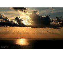 Golden Spirit Over Haifa Bay Photographic Print