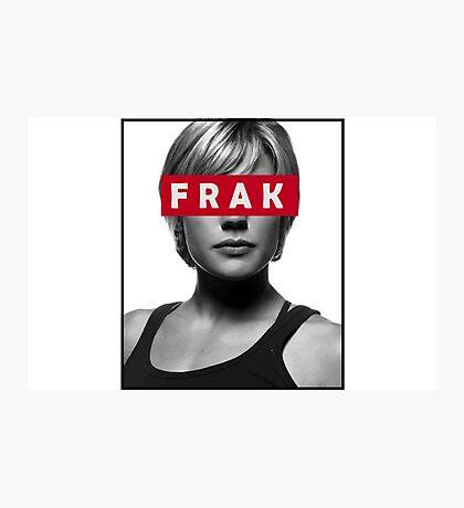 Starbuck - Frak - Battlestar Galactica Photographic Print