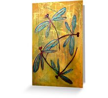 Dragonfly Haze Greeting Card