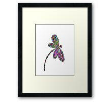 Dragonfly  Neon  Framed Print