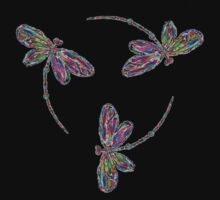 Neon Trinity Dragonflies Kids Clothes