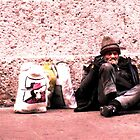 Lonely old homeless man by Jouer