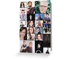 YouTubers of the World Greeting Card