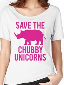 SAVE THE CHUBBY UNICORNS Women's Relaxed Fit T-Shirt
