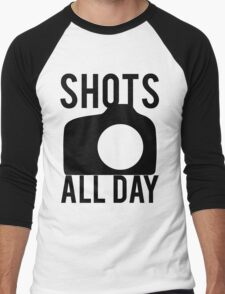 Shots All Day. Camera Men's Baseball ¾ T-Shirt
