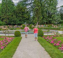 Garden of Diane de Poitiers, Chateau de Chenonceaux, Loire Valley, France #2 by Elaine Teague