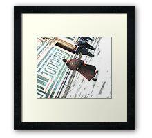 Nun in motion Framed Print