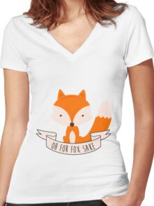 Oh For Fox Sake Women's Fitted V-Neck T-Shirt