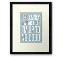 I Solemnly Swear - Harry Potter. Framed Print