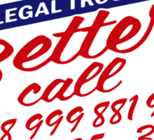 Better Call IT - Mashup! (0118 99...) Crowd Emergency number Sticker