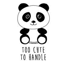Too cute to handle panda Photographic Print