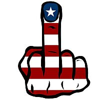 Middle finger USA Photographic Print