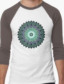 Fractal Mandala Men's Baseball ¾ T-Shirt