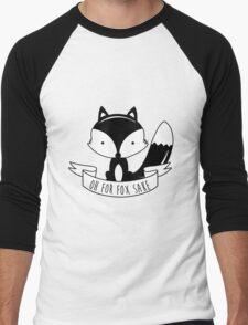 Oh For Fox Sake - Black And White Men's Baseball ¾ T-Shirt
