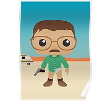 Walter White Funko Pops Style Poster