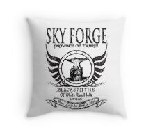 SkyForge - Where Legends Are Born In Steel Throw Pillow