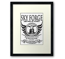 SkyForge - Where Legends Are Born In Steel Framed Print