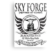 SkyForge - Where Legends Are Born In Steel Metal Print