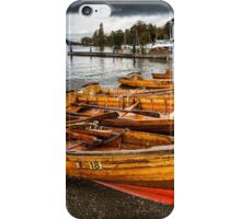 Rowing Boats, Lake Windermere iPhone Case/Skin