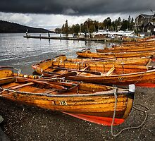 Rowing Boats, Lake Windermere by Heidi Stewart