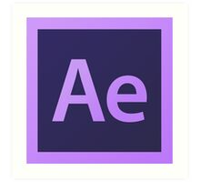 Adobe After Effects. Art Print