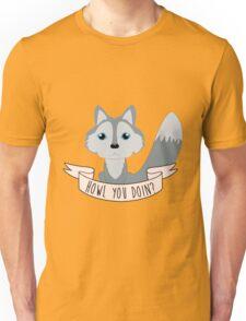 Howl you doin? Wolf Unisex T-Shirt