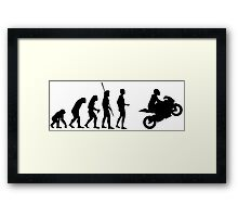 Evolution motorcycle Framed Print