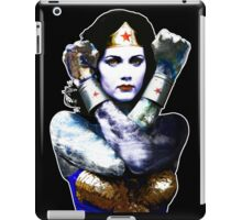 "Title: ""First Date"", Wonder Woman, Lynda Carter inspired Earth Girl, iPad Case/Skin"