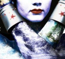 "Title: ""First Date"", Wonder Woman, Lynda Carter inspired Earth Girl, Sticker"