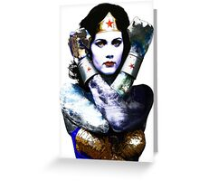 "Title: ""First Date"", Wonder Woman, Lynda Carter inspired Earth Girl, Greeting Card"